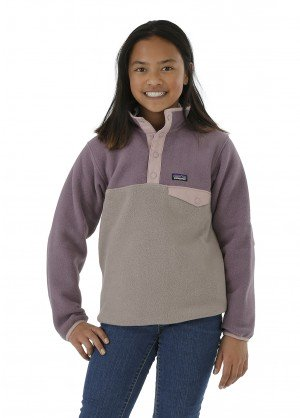 Patagonia Girls Lightweight Synch Snap-T Pullover - WinterKids.com